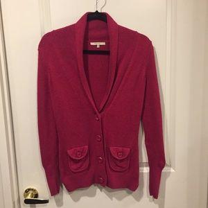 RW & CO red shawl cardigan sz xs